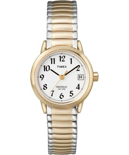 LDS 2/T BRUSHED GOLD TIMEX WATCH