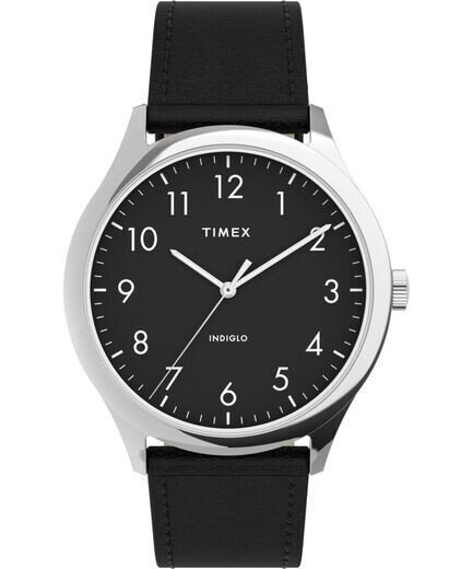GTS S/C BLACK DIAL TIMEX WATCH
