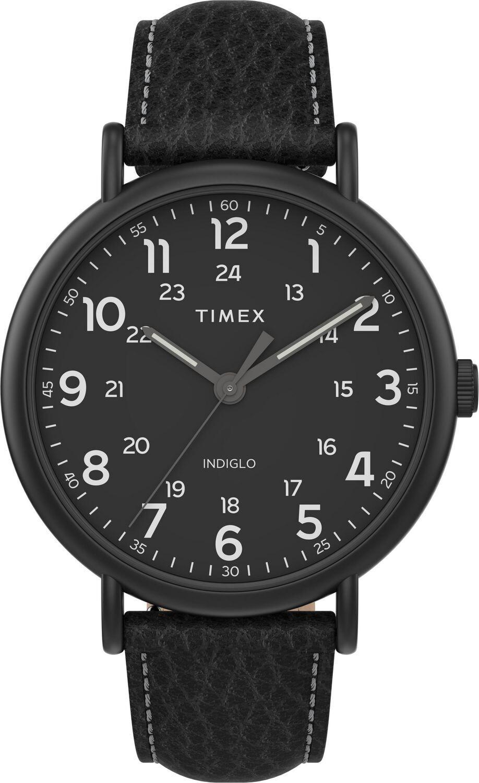 GTS BLACK BRUSHED TIMEX WATCH