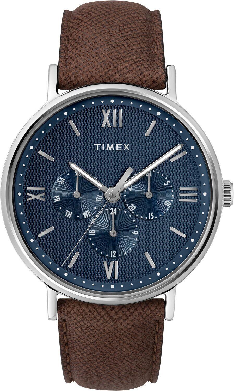 GTS BLUE FACE CHRONO TIMEX WATCH