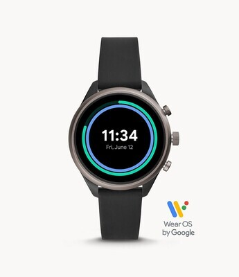 FOSSIL GENTS BLK SILICONE BAND SPORT SMARTWATCH