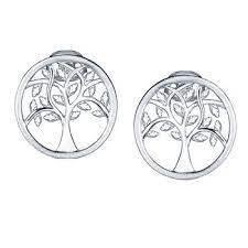 925 TREE IN CIRCLE EARRINGS