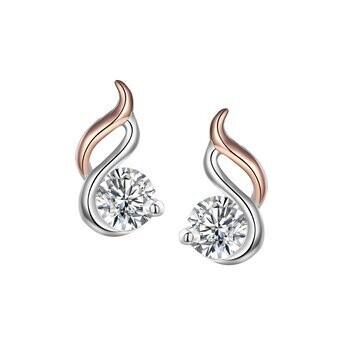925 SWIRL DROP ROSE EARRINGS