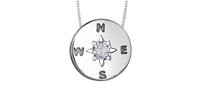 STER CAN DIA COMPASS PENDANT