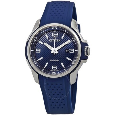 CITIZEN GTS.ECO DR.BLUE SILICONE BAND/DIAL
