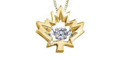 10KYG/WG CANADIAN DIA MAPLE LEAF PEN