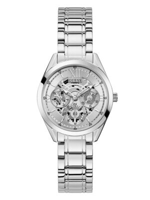 GUESS SILVER TONE LDS WATCH