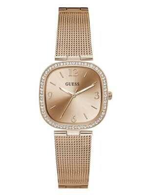 GUESS SQUARE ROSE/TONE LDS WATCH