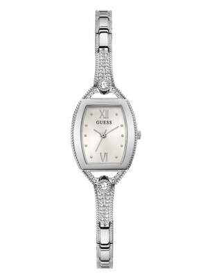 GUESS RECT'SILV/TONE LDS WATCH
