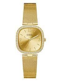 GUESS SQUARE GOLD/TONE LDS WATCH