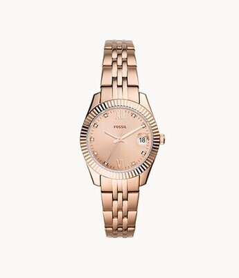 FOSSIL LDS WATCH ROSE TONE