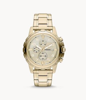 FOSSIL GNTS WATCH GOLD TONE