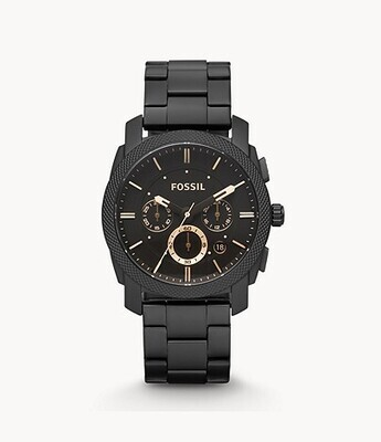 GENTS BLK FOSSIL WATCH