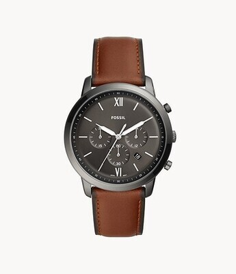 FOSSIL GNTS WATCH BLK FACE
