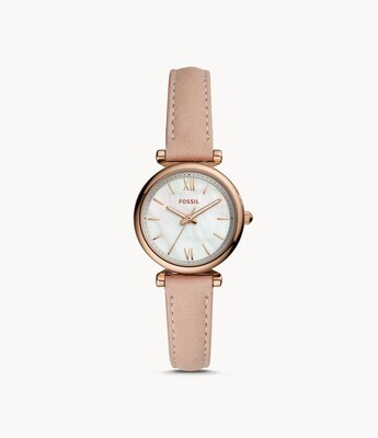 FOSSIL LDS WATCH MOP FACE W/ROSE TONE