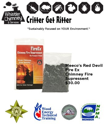 Meeco's Red Devil Fire Ex Chimney Fire Suppressent