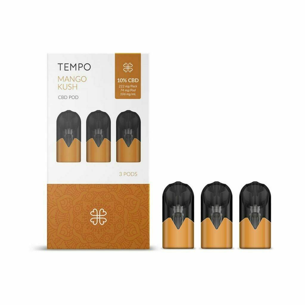 Harmony TEMPO Mango Kush 3 Pods 3 Pods Pack 222mg CBD (3x74mg)