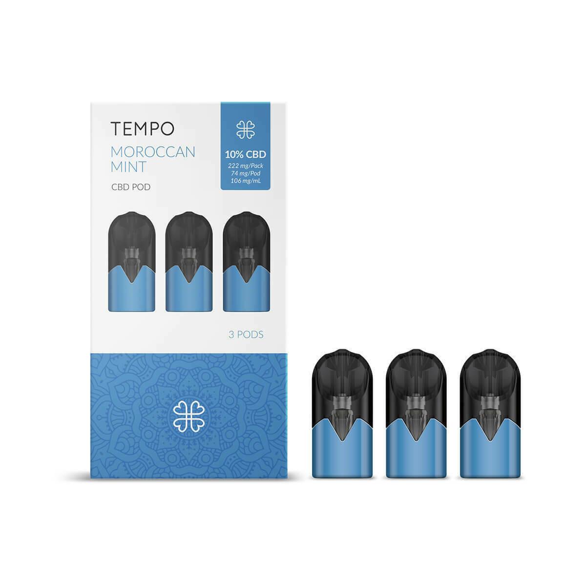 Harmony TEMPO Moroccan Mint 3 Pods Pack 222mg CBD (3x74mg)