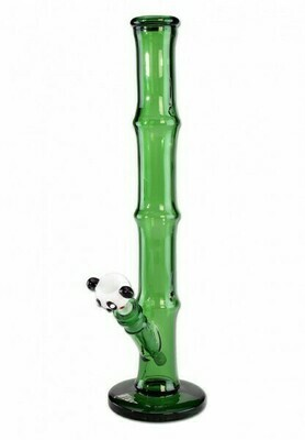 'Black Leaf' glass bong with panda head