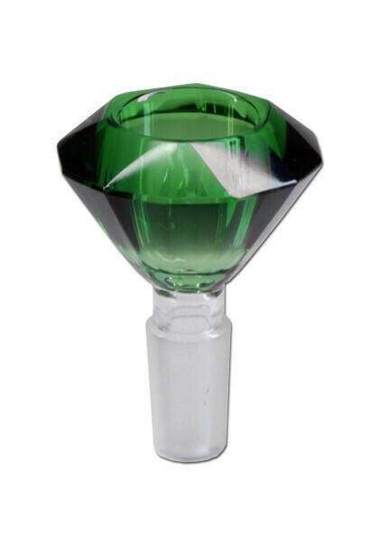 Glassbowl 'Diamond' polished and coloured NS 19