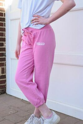 Pink cropped DANCE sweats - Ladies