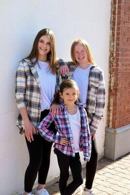 Pink/Blue Flannel - Kids