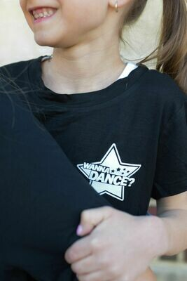 Black relaxed fit logo tee - Girls