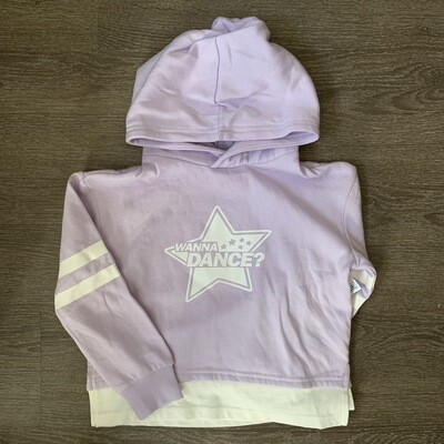 Lilac popover hoodie - Girls
