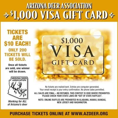 Visa Gift Card Ticket