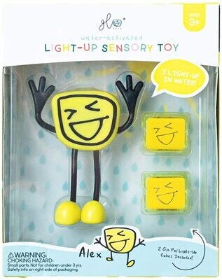 Glo Pals Character Alex (Yellow) NEW