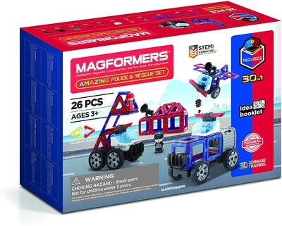 Magformers Amazing Police and Rescue 26 Piece Set