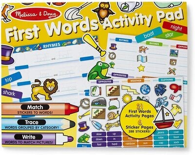 MD First Words Activity Pad