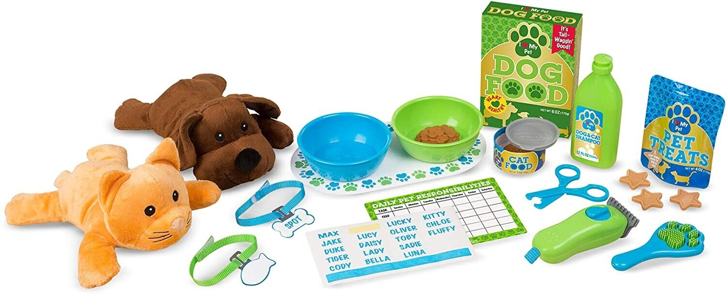 MD Feeding & Grooming Pet Care Play Set