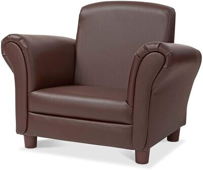 MD Child's Armchair Coffee Faux Leather