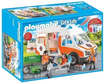 Playmobil Ambulance with Flashing Lights 70049