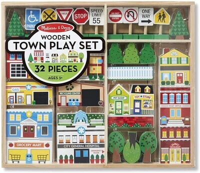 MD Wooden Town Playset