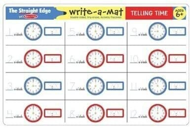 MD Learning Mat Telling Time