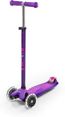 Micro Kickboard Maxi Deluxe Purple/Pink LED