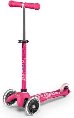 Micro Kickboard Mini Deluxe LED Pink