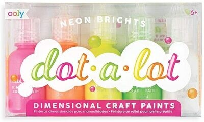 Ooly Dot A Lot Dimensional Craft Paint - Neon