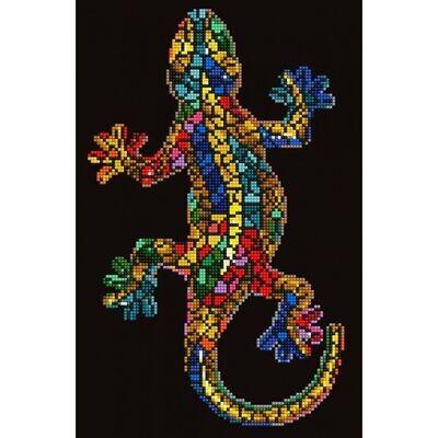 Diamond Dotz Kit Gecko Paua Framed