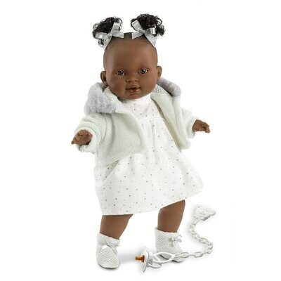 """Llorens Marie 38616 15"""" Soft Body Crying Baby Doll"""