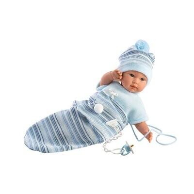 "Llorens Liam 30007 11"" Soft Body Crying Baby Doll"