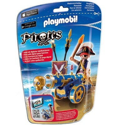 Playmobil 6164 Blue Interactive Cannon with Pirate