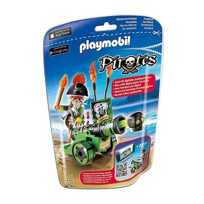 Playmobil 6162 Green Interactive Cannon with Pirate