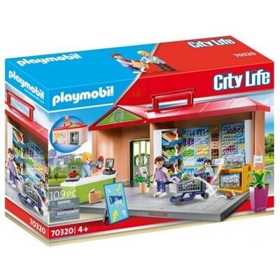 Playmobil 70320 Take Along Grocery Store