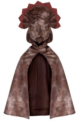 GP Triceratops Hooded Cape Brown Size 4-5