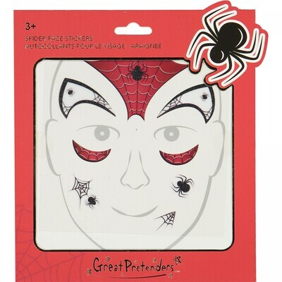 GP Spider Face Stickers