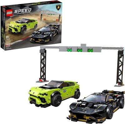 Lego 76899 Lamborghini Urus STX & Lamborghini Huracan Super Trofeo EVO