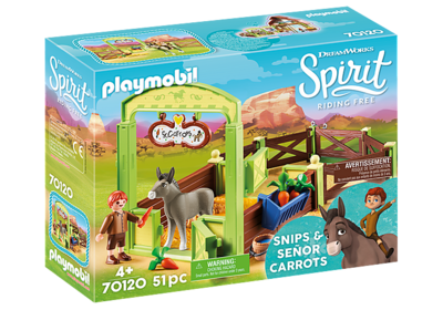 Playmobil 70120 Snips and Senor Carrots with Horse Stall